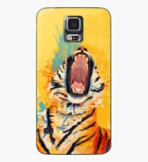 Wild Yawn - Tiger portrait, colorful tiger, animal illustration Case/Skin for Samsung Galaxy