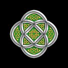 Celtic Knotwork Stone Cathedral Window on Black by Brandy Sinclair