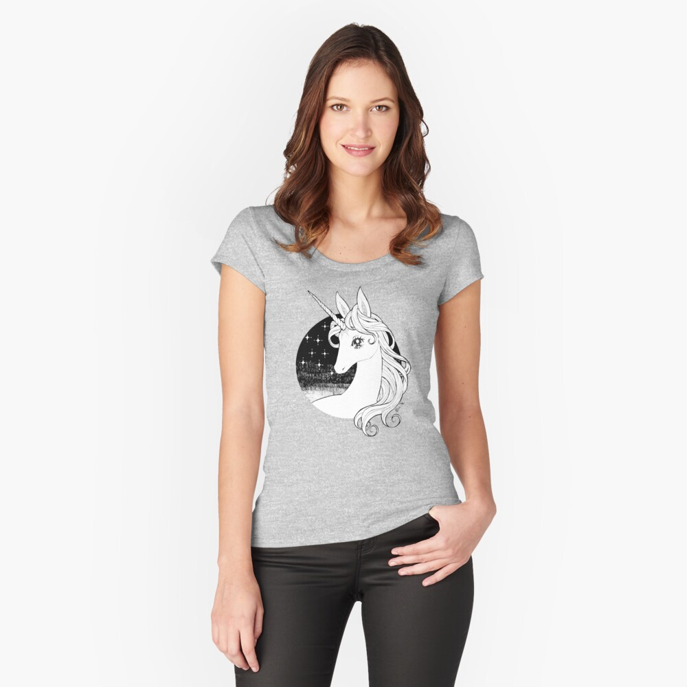 The Last Unicorn Women's Fitted Scoop T-Shirt Front