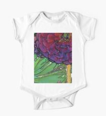 watercolor painting of purple succulents One Piece - Short Sleeve