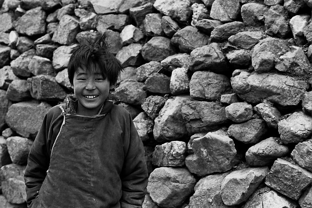 Tibetan Boy by Julio Vasconcellos