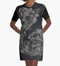 Nevertheless She Persisted, Gold Graphic T-Shirt Dress