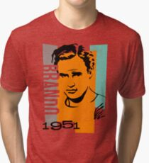 Original Graphic Design Portrait of Marlon Brando Tri-blend T-Shirt
