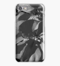 Macro Geranium Bloom - B&W iPhone Case/Skin