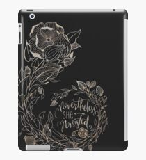 Nevertheless She Persisted, Gold iPad Case/Skin