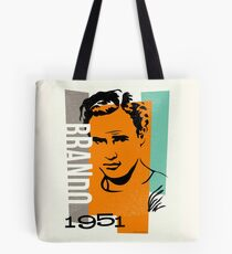 Original Graphic Design Portrait of Marlon Brando Tote Bag