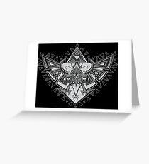 Heart Shield Triforce Silver 2/3 Greeting Card
