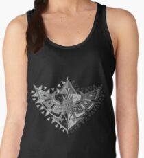 Heart Shield Triforce Silver 1/3 Women's Tank Top