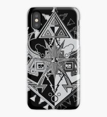 Heart Shield Triforce Silver 1/3 iPhone Case