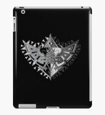 Heart Shield Triforce Silver 1/3 iPad Case/Skin