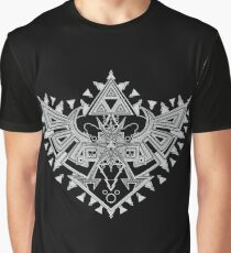 Heart Shield Triforce Silver 2/3 Graphic T-Shirt