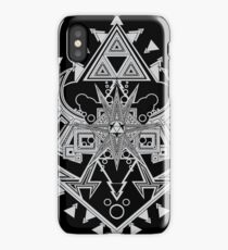 Heart Shield Triforce Silver 2/3 iPhone Case