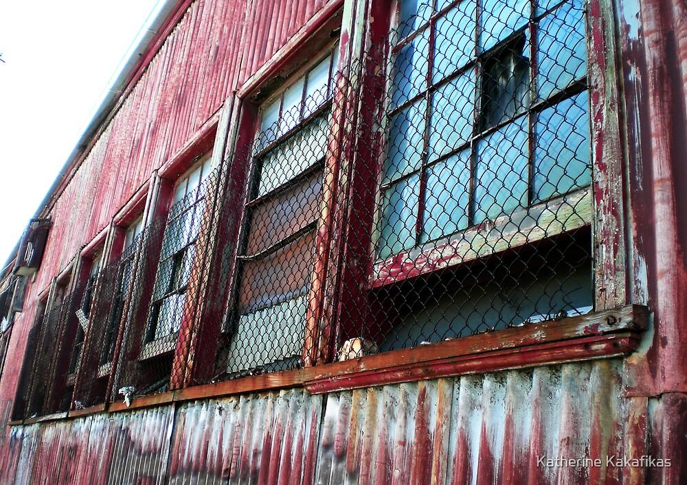Corrugated fence by Katherine Kakafikas