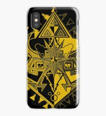 Heart Shield Triforce Gold 1/3 iPhone Case