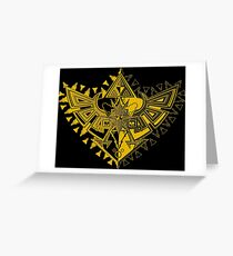 Heart Shield Triforce Gold 1/3 Greeting Card