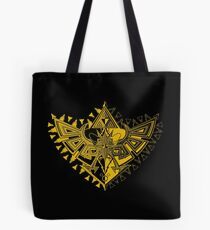 Heart Shield Triforce Gold 1/3 Tote Bag