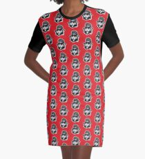 Greaser Rabbit Graphic T-Shirt Dress