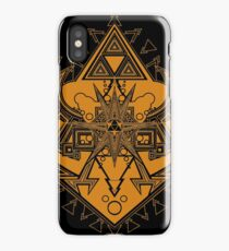 Heart Shield Triforce Bronce Gold 3/3 iPhone Case