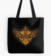 Heart Shield Triforce Bronce Gold 3/3 Tote Bag