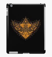 Heart Shield Triforce Bronce Gold 3/3 iPad Case/Skin