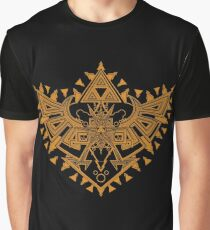Heart Shield Triforce Bronce Gold 2/3 Graphic T-Shirt