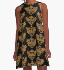 Heart Shield Triforce Bronce Gold 2/3 A-Line Dress