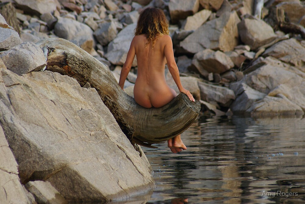 Nude on a Stump 2 by Rick Olson