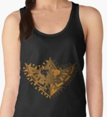 Heart Shield Triforce Bronce Gold 1/2 Women's Tank Top