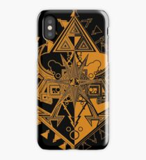 Heart Shield Triforce Bronce Gold 1/2 iPhone Case