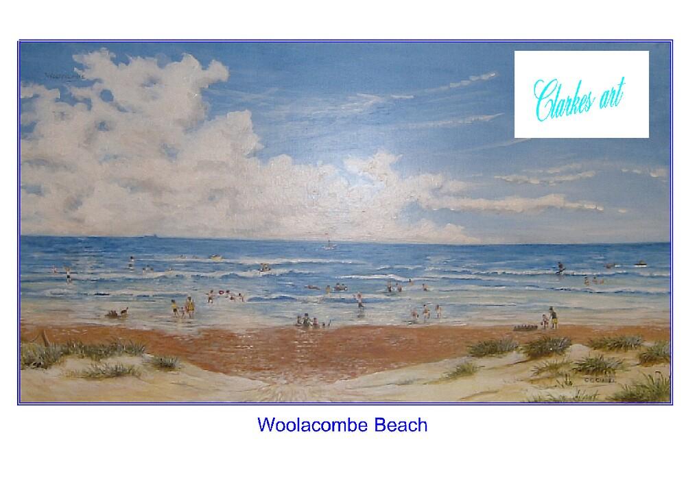 Woolacombe Beach by clarkesart