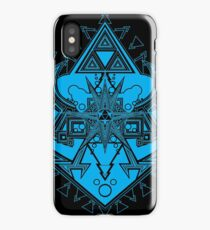 Heart Shield Triforce Cyan 3/3 iPhone Case