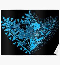 Heart Shield Triforce Cyan 1/3  Poster