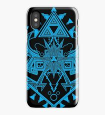 Heart Shield Triforce Cyan 2/3 iPhone Case