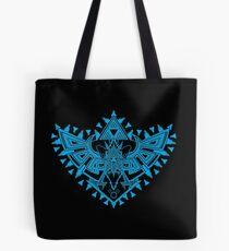 Heart Shield Triforce Cyan 2/3 Tote Bag