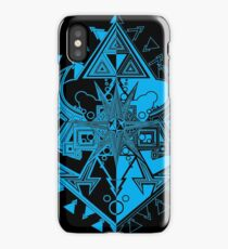 Heart Shield Triforce Cyan 1/3  iPhone Case