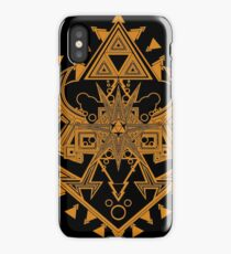 Heart Shield Triforce Bronce Gold 2/3 iPhone Case