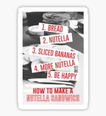 Nutella Sandwich Sticker