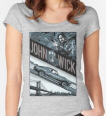 john wick chapter 2 movie Women's Fitted Scoop T-Shirt