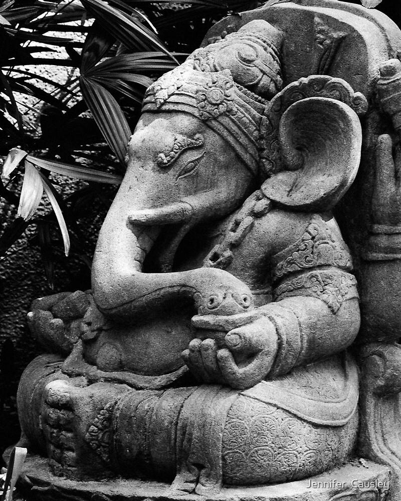 Ganesha Garden Statue by Jennifer  Causley