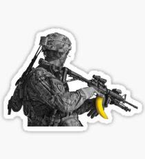 Banana Clip Soldier Sticker
