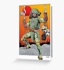 Predator Mandalorian Greeting Card