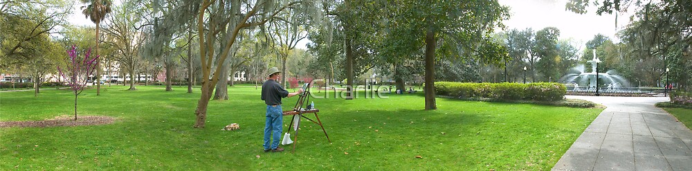 Painter in Forsyth Park by Charlie
