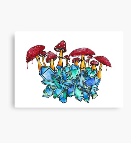 Calm Crystals  Canvas Print