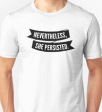 She Persisted Banner, black Slim Fit T-Shirt