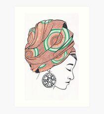 Intricate Headress Art Print