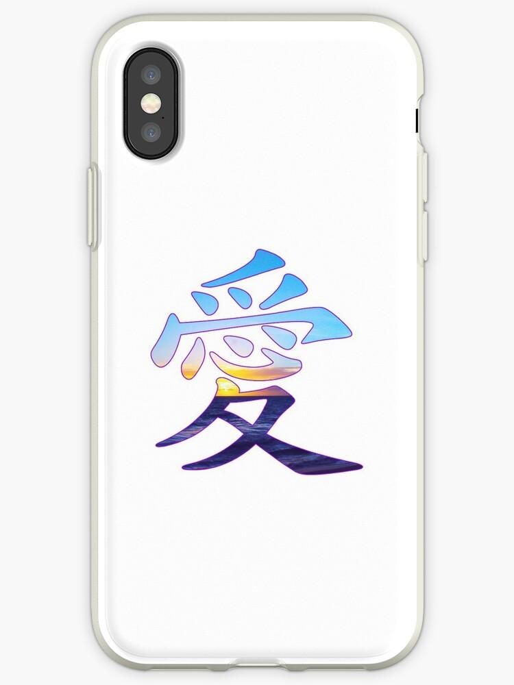 Ai Liebe In Japanischen Und Chinesischen Schriftzeichen Aufkleber Iphone Hülle Cover Von Easyfuntees