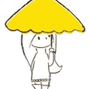 The girl with the yellow umbrella by BelleInconnue