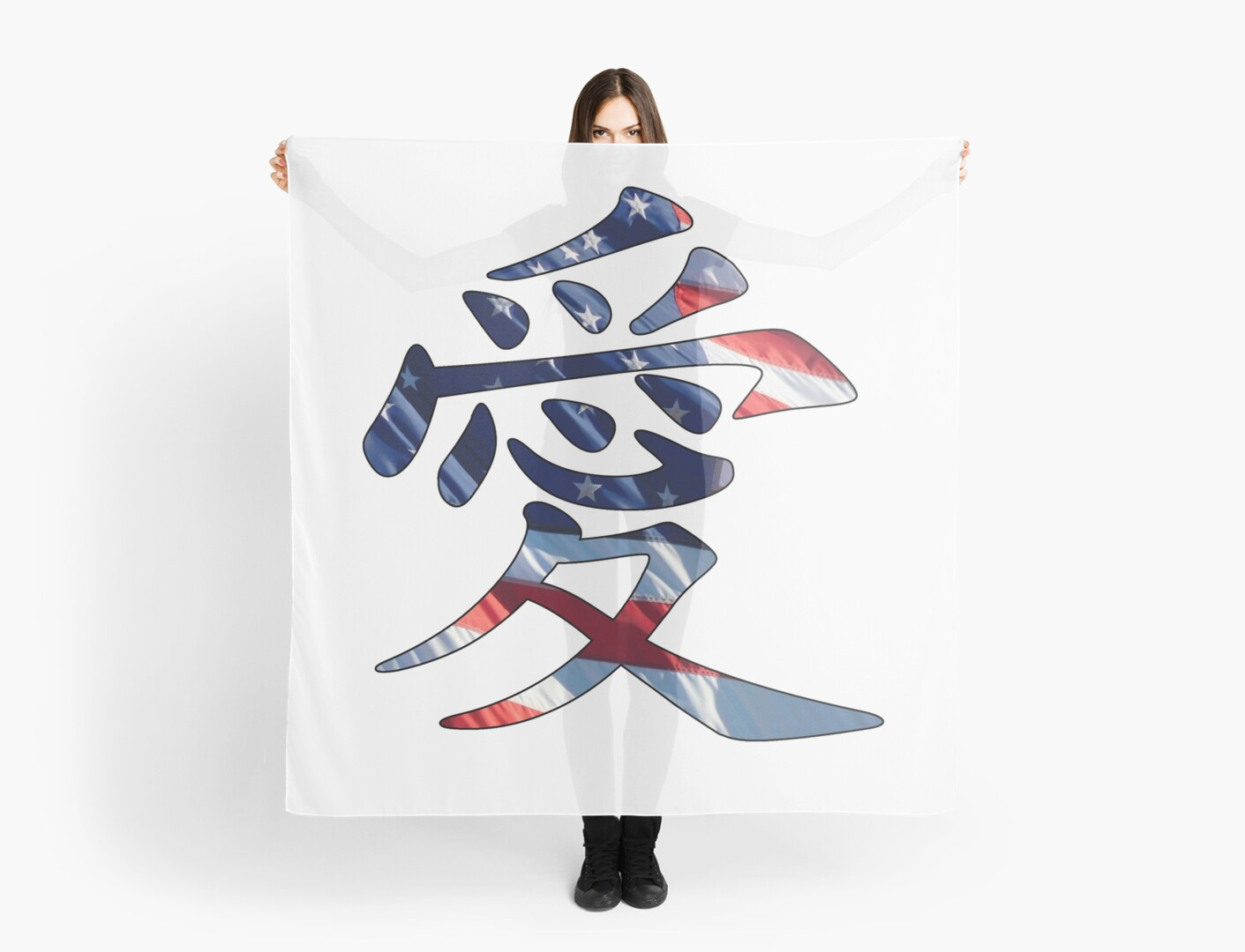 Chinese american pride ai chinese character for love scarves by chinese american pride ai chinese character for love by easyfuntees buycottarizona