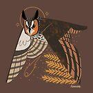 Familiar - Long Eared Owl by straungewunder