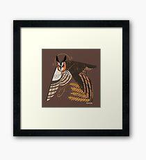 Familiar - Long Eared Owl Framed Print